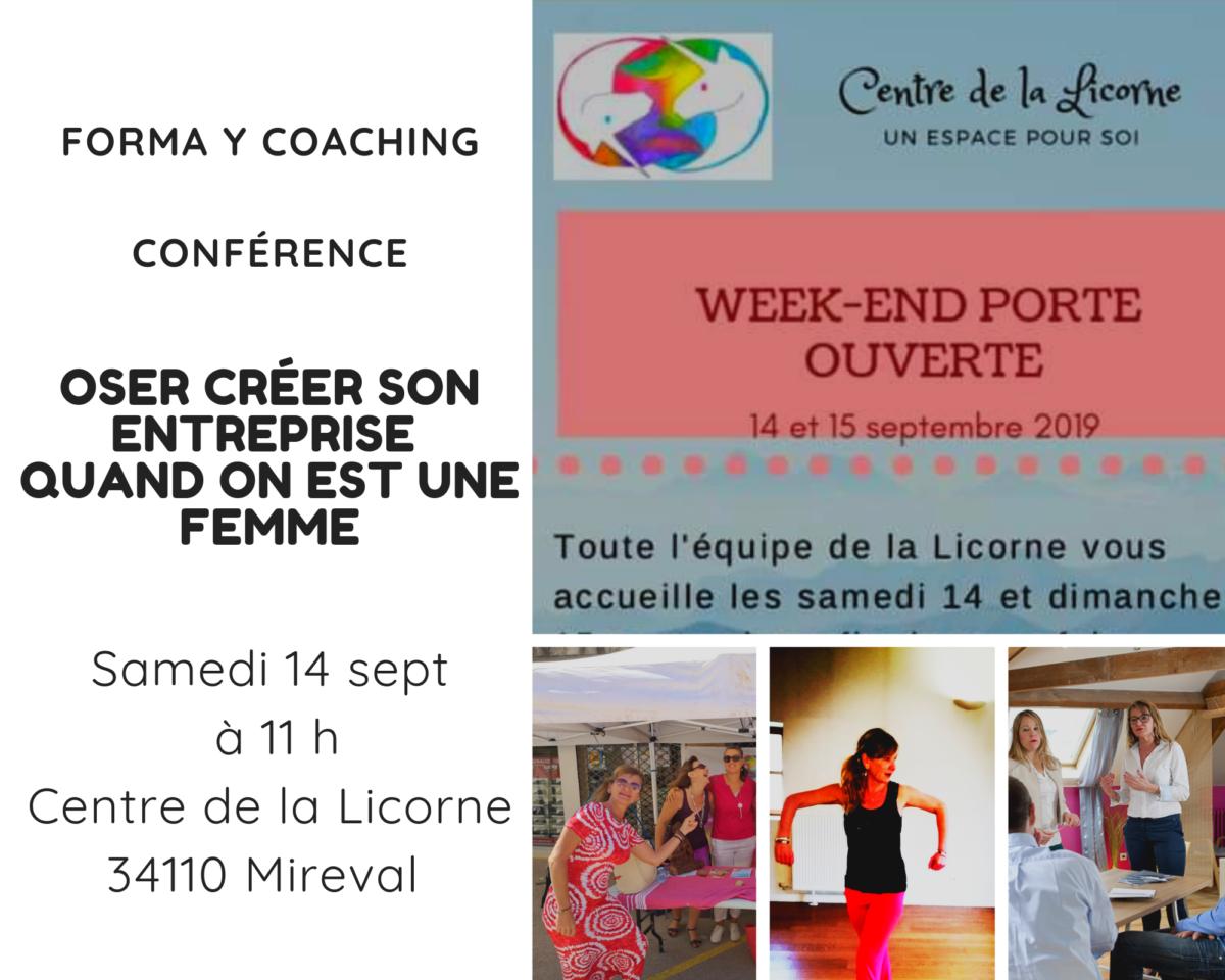 """14/09/2019 : Conférence """"Oser créer son entreprise quand on est une femme"""""""